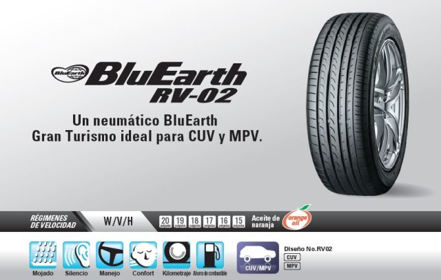 llanta Yokohama BluEarth RV02 portada