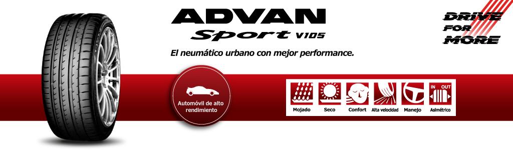 llanta deportiva yokohama advan sport v105