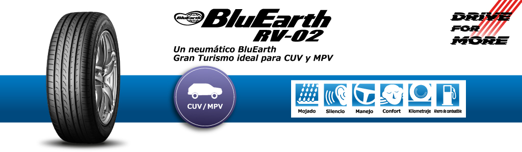 llanta yokohama bluearth rv02